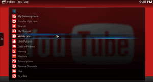 youtube kodi