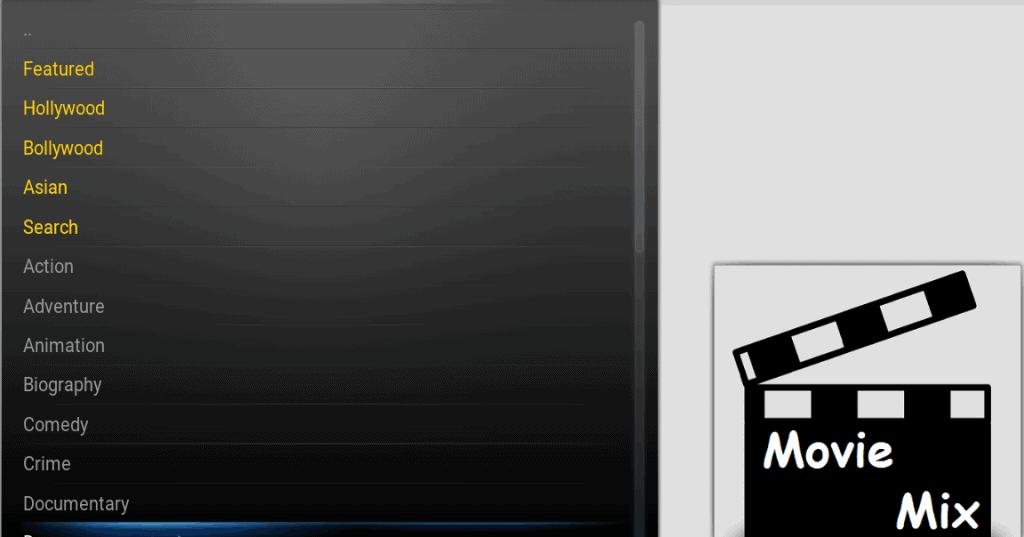 Moviemix addon Kodi