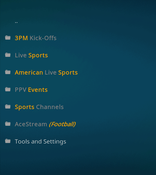 sports matrix kodi addon